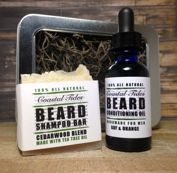 valentine gifts for men beard kit beard oil by coastaltidessoaps. Black Bedroom Furniture Sets. Home Design Ideas