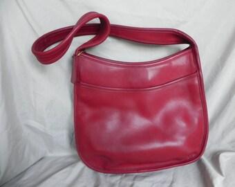 1980's Vintage Coach Legacy Shoulder Bag Purse Burgundy Red 9047