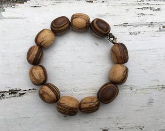 Hand Made Wooden Bead Bracelet, Wooden Beads