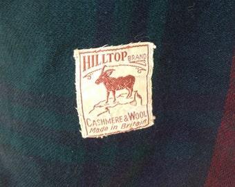 Hilltop brand Vintage cashmere wool blanket throw