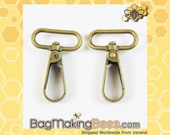 3/4 Inch Antique Brass Swivel Snap Hook [Set Of 2]
