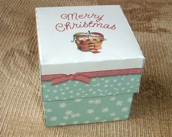 Christmas Hugs Gift Box Template DIY Pattern PDF Instant Download