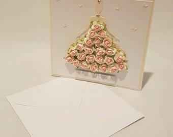 Beautiful Bride Flower Card