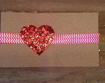 Sparkle heart headband