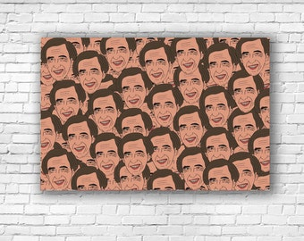 Alan Partridge 'Faces' Illustration Print