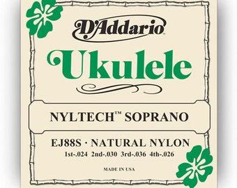 D'addario Nyltech Soprano Ukulele Strings