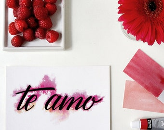 te amo greeting card | spanish | i love you | tarjeta de amor | amor | i love you card
