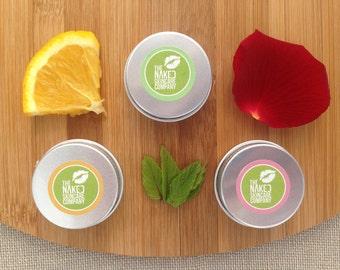 Set of 3 Coco Lip Balms//Natural Skincare//Cocoa Butter//Essential Oils