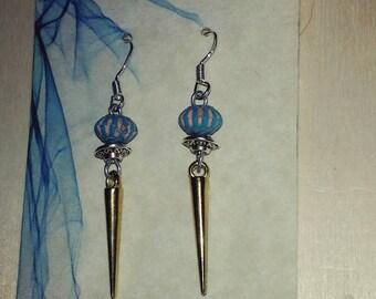 Gold Spike dangle earrings