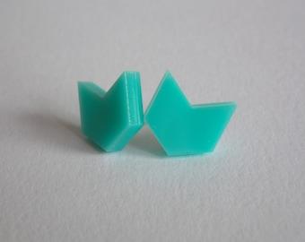 Chevron Stud Earrings | Cute Mini Studs