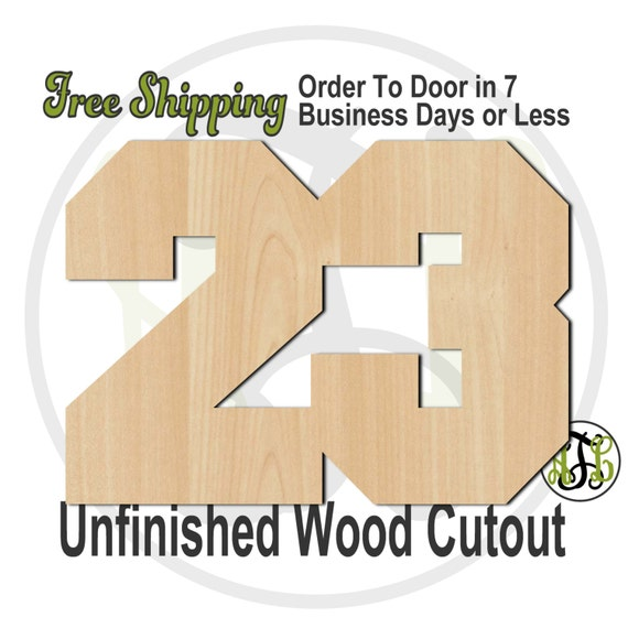 Single or Double Digit Number - 1017NoPSN- Cutout, Numbers, unfinished, wood cutout, wood craft, laser cut, wood cut out, DIY, Free Shipping