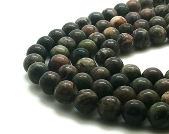 8mm Natural Ocean Jasper Beads Round 8mm Ocean Jasper 8mm Sea Jasper 8mm Green Jasper 8mm Semi Precious Stone