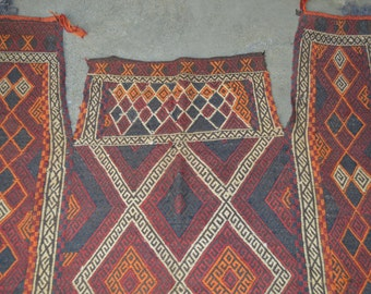 160 by 142 CM Vintage Embroidered Kilim for Wall Hanging or Horse Cover