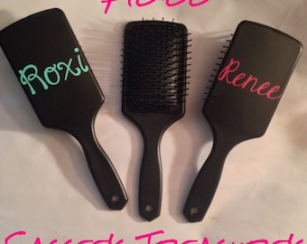Monogrammed Hairbrush/ Personalized Brush/ Flat Square Hairbrush