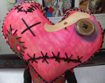 Valentine Beat-up Heart  Voodoo Doll
