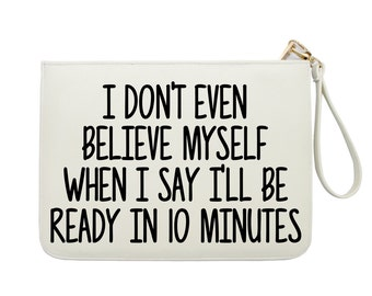 Make Up Bag - Quote In Bags And Purses - Funny Quote Prints - Make Up Clutch - Women handbag with luxury gold zipper |KHG-042-Perfcase