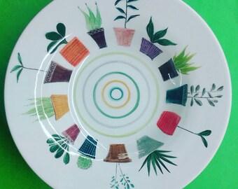Flower pot plate/ Πιάτο με γλάστρες
