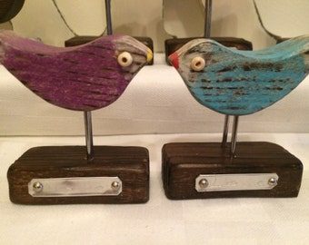 Tiny Love Birds Gift for Bird Lovers Gifts for Her Wood Art Bird Unique Gift Wood Carving Shabby Chic Unusual Gift Cute Present Personalise
