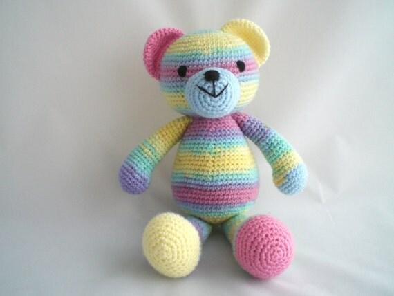 Crochet Teddy Bear / Amigurumi Teddy Bear / Crochet Rainbow