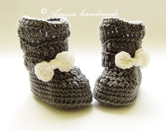Baby girl ankle boots, Crochet baby boots, crochet infant booties, crochet baby shoes, newborn girl boots, girl crochet boots, baby booties