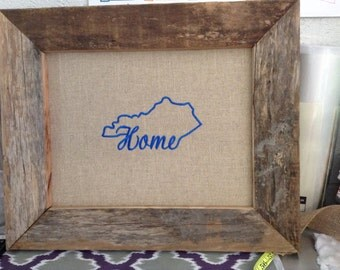 Kentucky framed embroidery