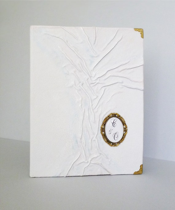 Personalised Wedding Photo Albums: Personalized Wedding Photo Album White Leather Large By