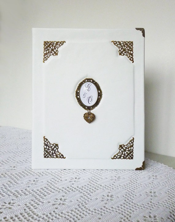 Wedding Album Personalized Leather Photo Album Monogrammed