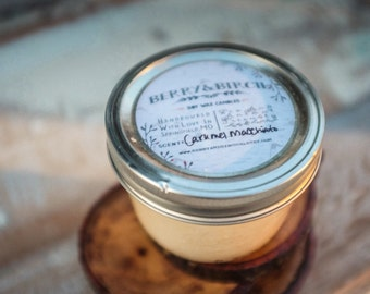 CHOOSE 6--Handpoured Soy Wax Candles--CHOOSE 6 --8 oz jar--Eco Friendly--Natural--Phthalate free fragrance--Mason Jar Candle--Gift