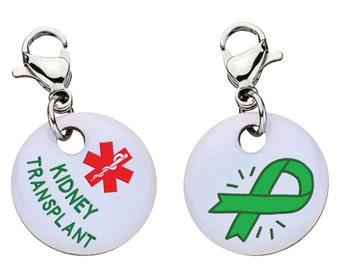 Kidney Transplant Medical Alert Bracelet Charm - Large,76
