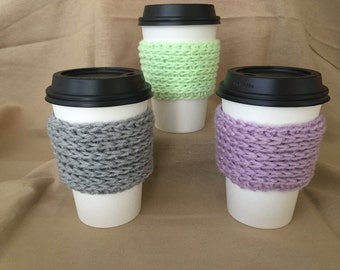 Handmade Crochet Coffee Cup Cozy Chain Style