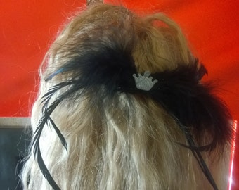 feathers mini hair clip