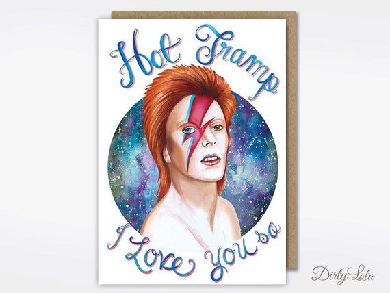 Valentine's Day Card David Bowie Card Stationery Hot
