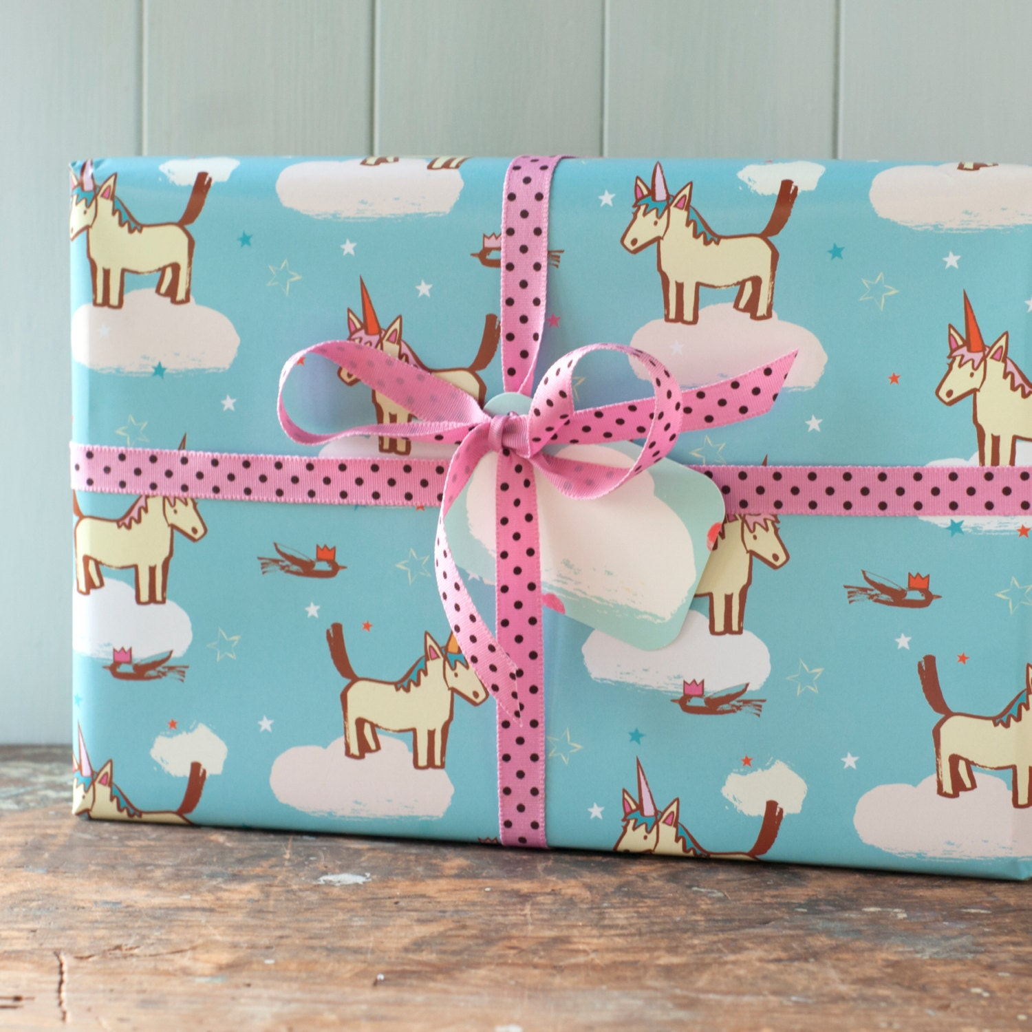 Gift Wrapping Paper Unicorn Gift Wrap Horse Birthday Paper