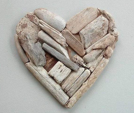 15 Driftwood Crafts: 5th Anniversary Gift 15 Driftwood Heart By Oceanwoodcreation
