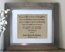 Irish Blessing Baby Nursery Decor | Personalized Baby Shower Gift | Gift from godparents or First Birthday Gift | Rustic Nursery Decor