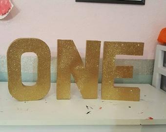 "Paper mache ""ONE"""