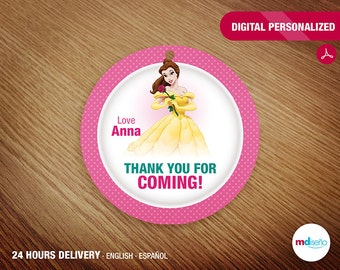 Beuty (Belle) PRINTABLE Favor Tag Thank You For Coming! Beauty (Belle) Party