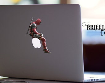 Deadpool Decal, Deadpool Macbook Decal, Deadpool Sticker, Deadpool, Deadpool Skin, Deadpool MacBook Pro Decal, Marvel Comics Decal