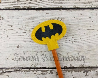 Bat Hero Pencil Toppers - Classroom Prizes - Party Favor - Party Supplies - Small Gift - Back to School