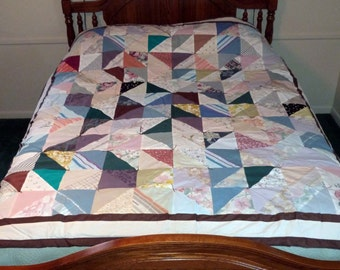 Upcycled Crazy Quilt, 78x68 (part# 1015)