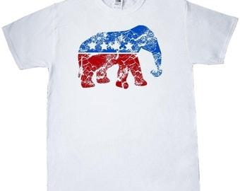Vintage Republican Elephant T-Shirt by Inktastic