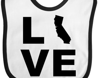 Love California Baby Bib by Inktastic