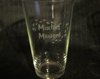 Mischief Managed Harry Potter Pint Glass