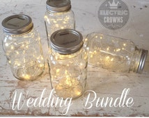 FREE shipping! Rustic Wedding Decor Wedding Decor | Fairy Lights for mason jars Centrepieces Fall Wedding *Jar not included* (K1)