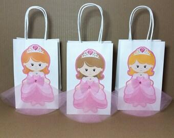 Princess favor bags ,princess  goody  bags, princess party, princess goody  bags