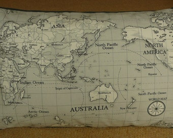 Map of the world cushion