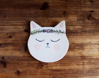 Hippie Cat Plate