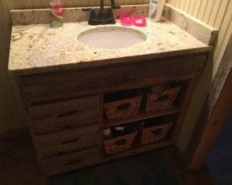 Rustic Reclaimed Bathroom Vanity