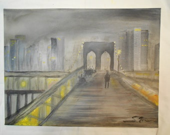 Bridge Manhattan Night