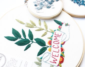 Welcome Sign Embroidery Hoop